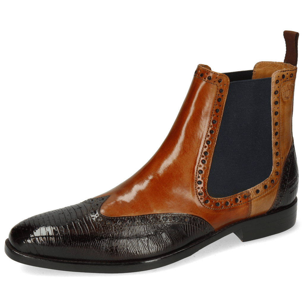 Ankle boots Martin 5 Lizzard Mid Brown Tan Sand
