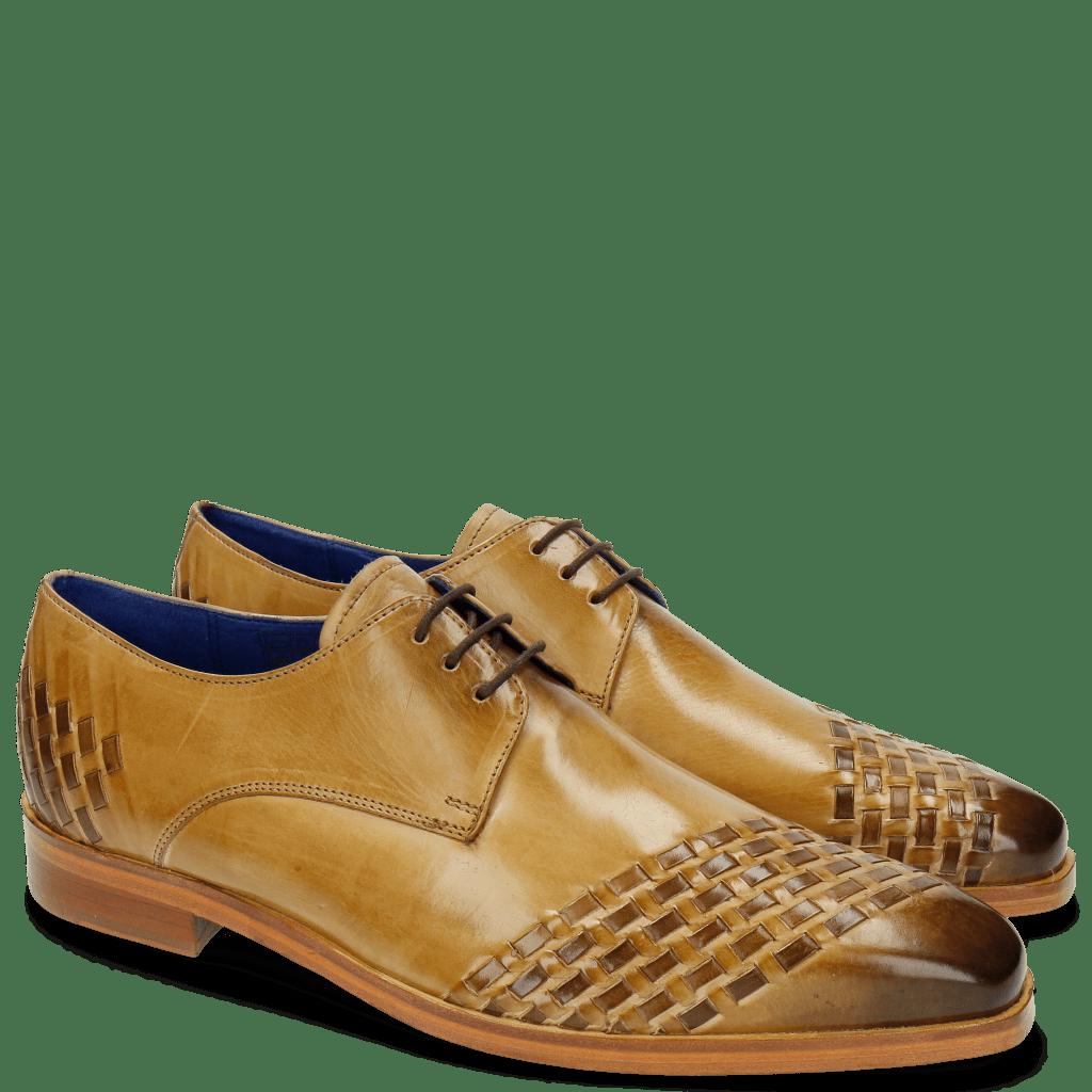 Derby shoes Lewis 24 Cashmere Interlaced Dark Brown