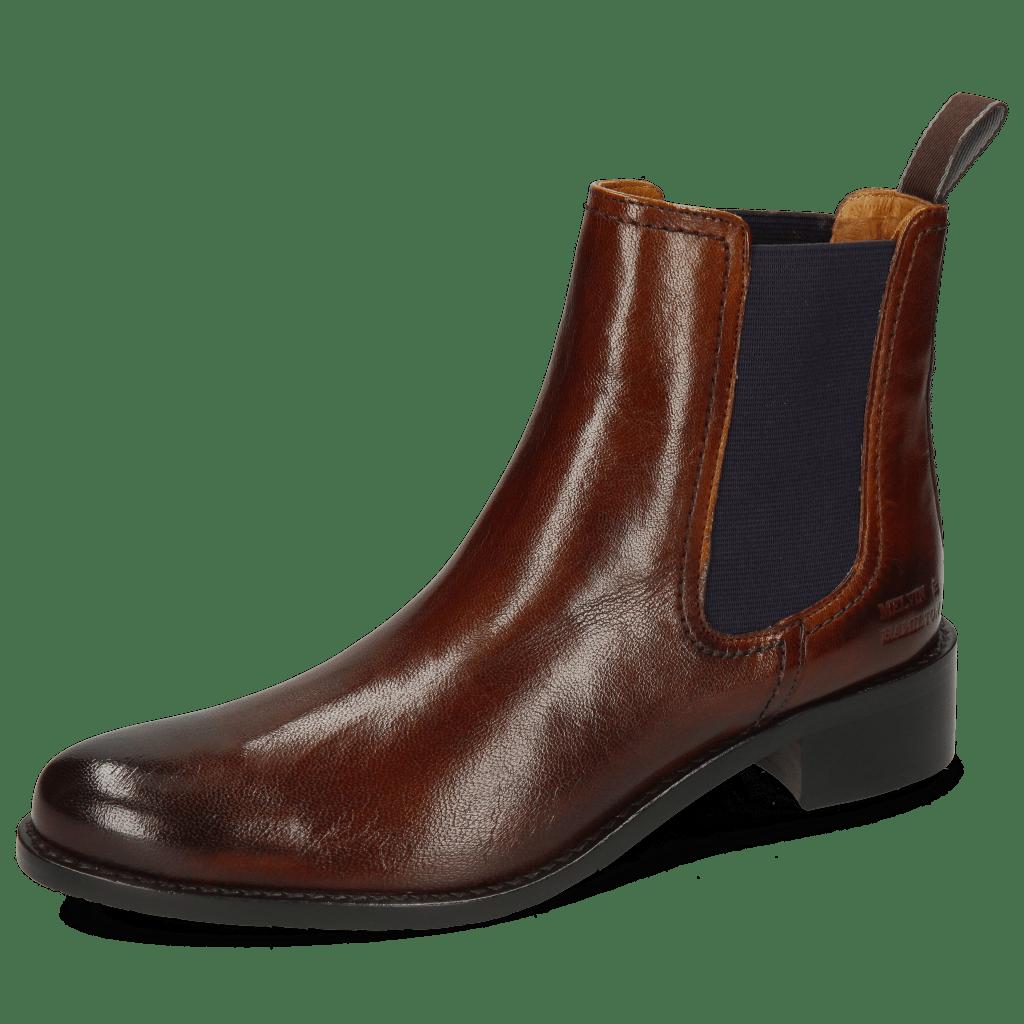 Ankle boots Xsara 1 Venice Wood Elastic Purple Rubber Navy
