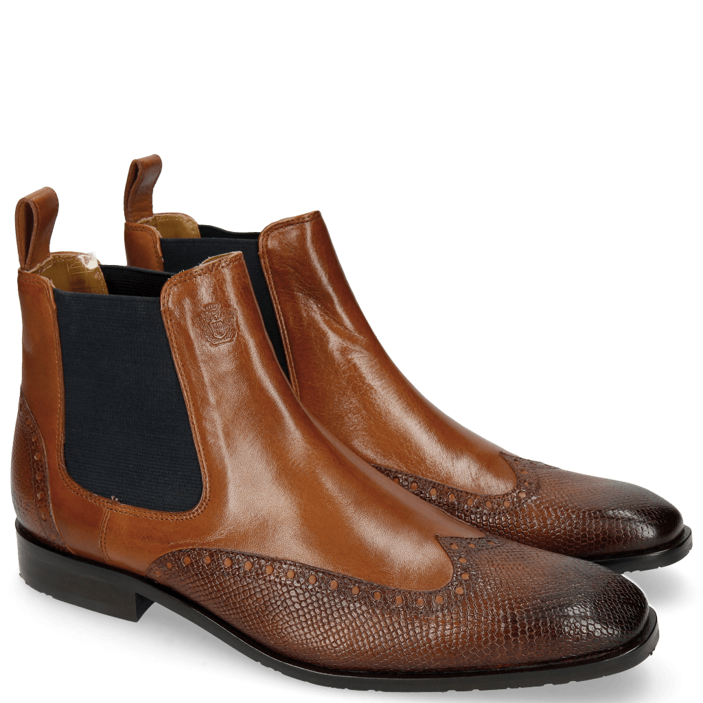 Ankle boots Xander 3 Venice Python Mid Brown