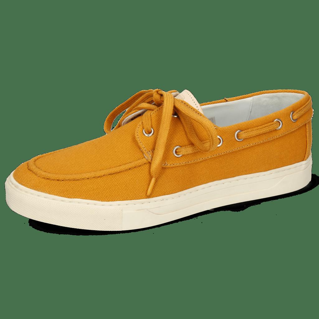 Boat shoes Adrian 8 Canvas Orange Natural