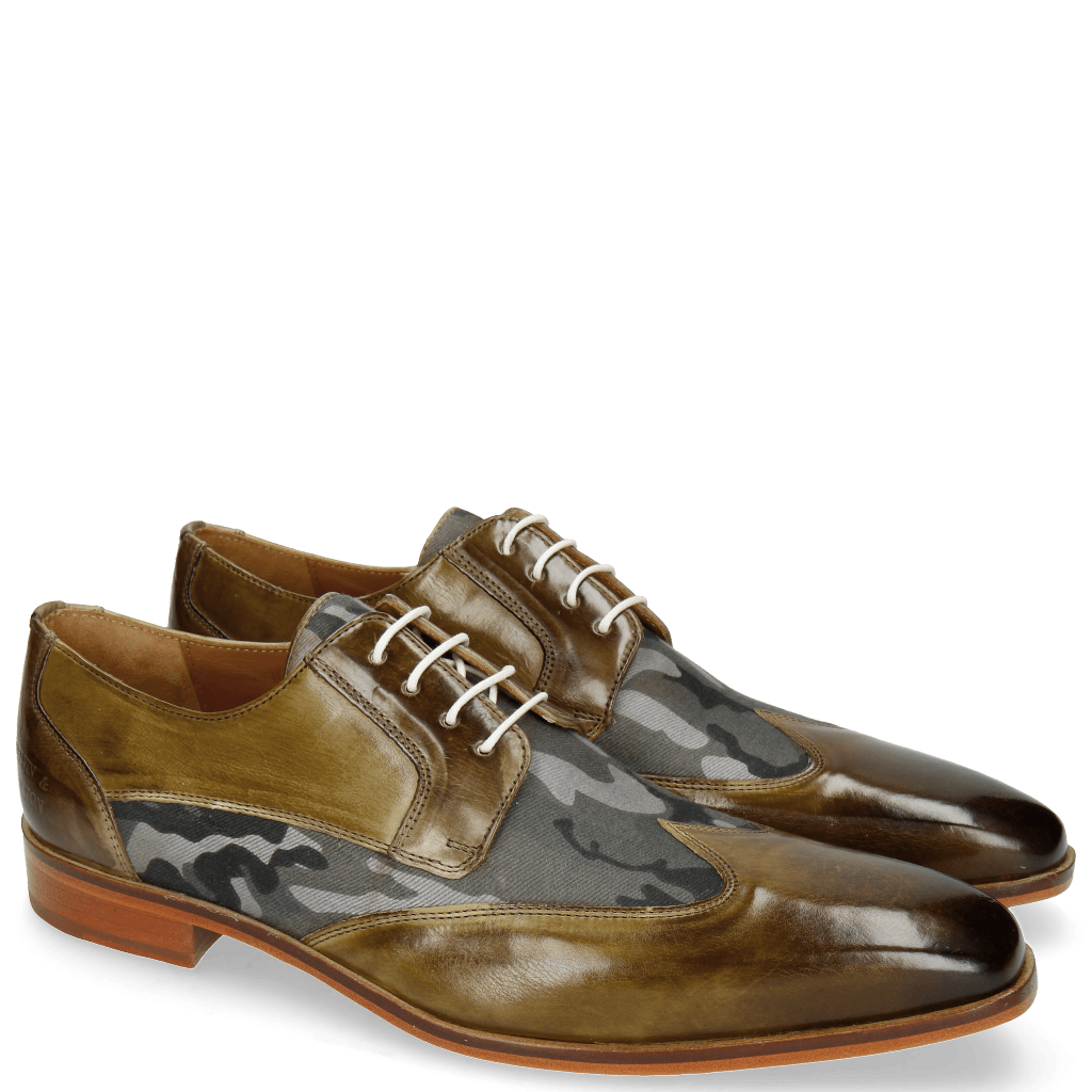Derby shoes Lance 9 Olive Textile Camo Salvia