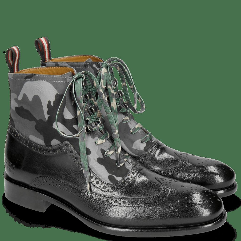 Ankle boots Patrick 21 Classic Black London Fog Textile Camo