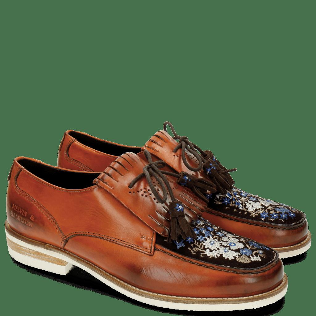 Derby shoes Kelly 9 Baby Brio Orange Suede Mid Brown