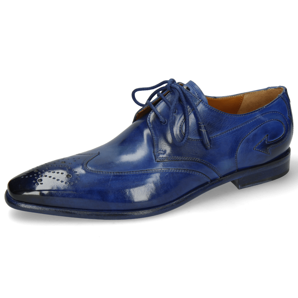 Derby shoes Elvis 63 Electric Blue Lining