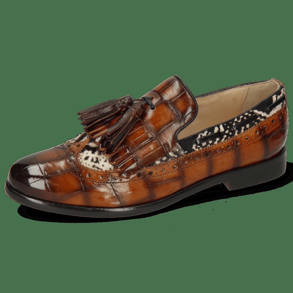 Loafers Selina 3 Turtle Tan Hairon Snake