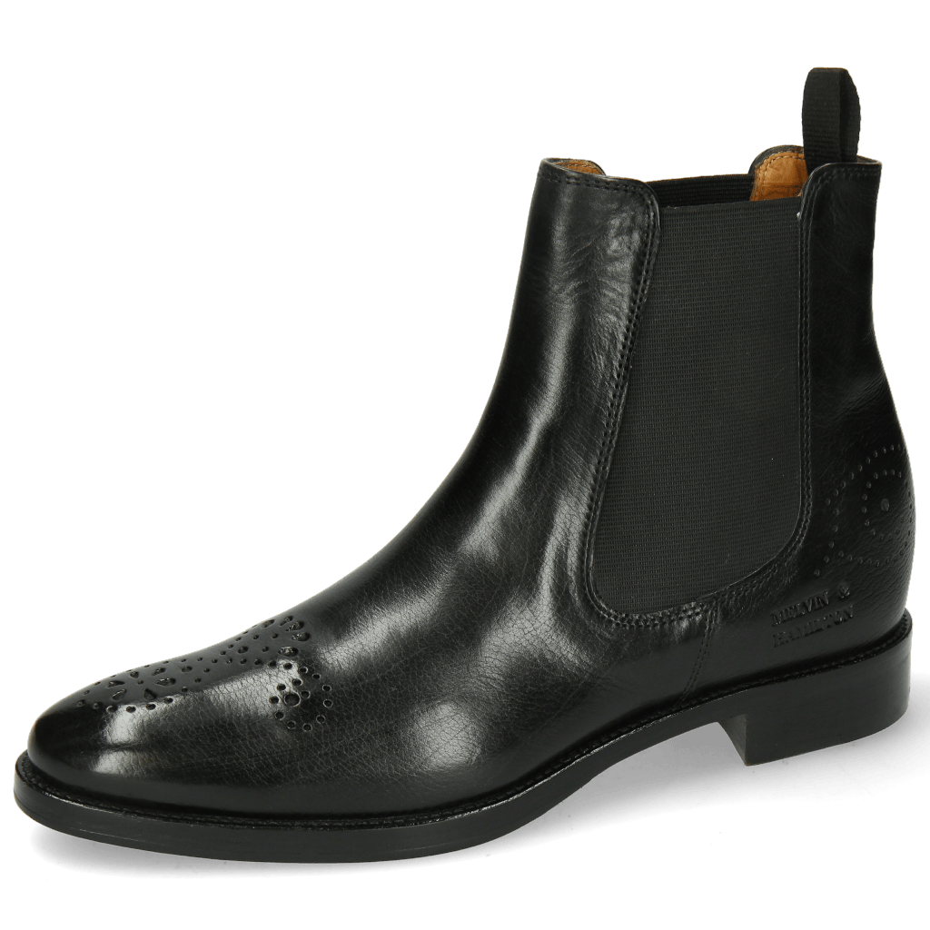 Ankle boots Betty 1 Black Elastic Black Lining Rich Tan