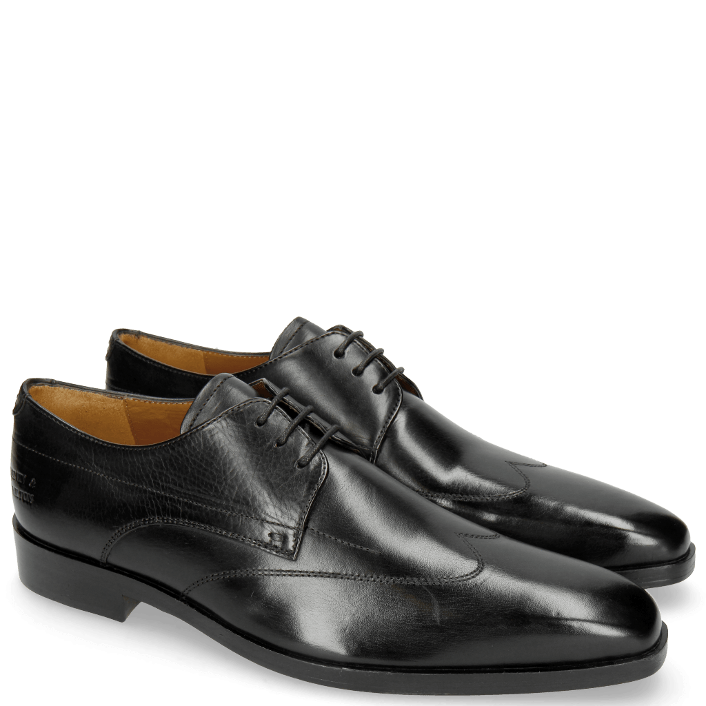Derby shoes Lewis 9 Black Lining Rich Tan