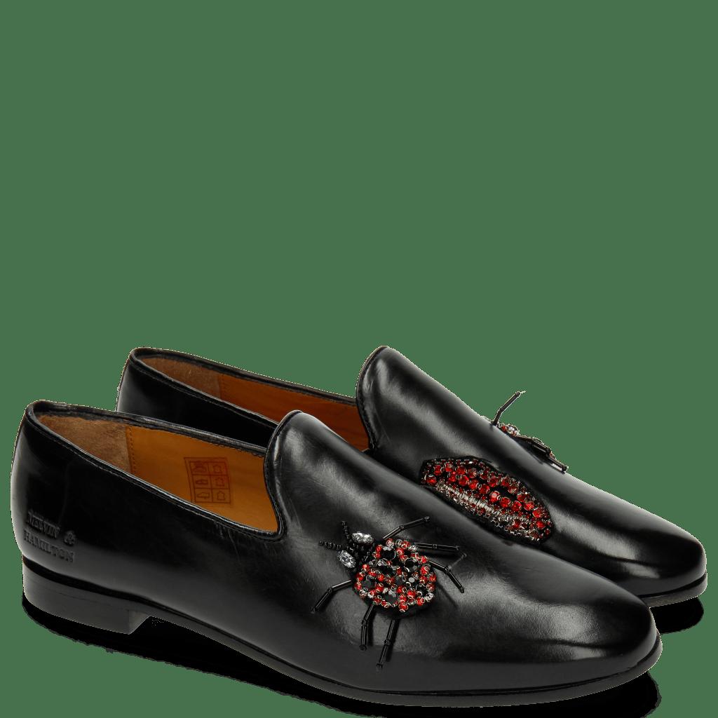 Loafers Scarlett 8 Black Patch Lips Bug