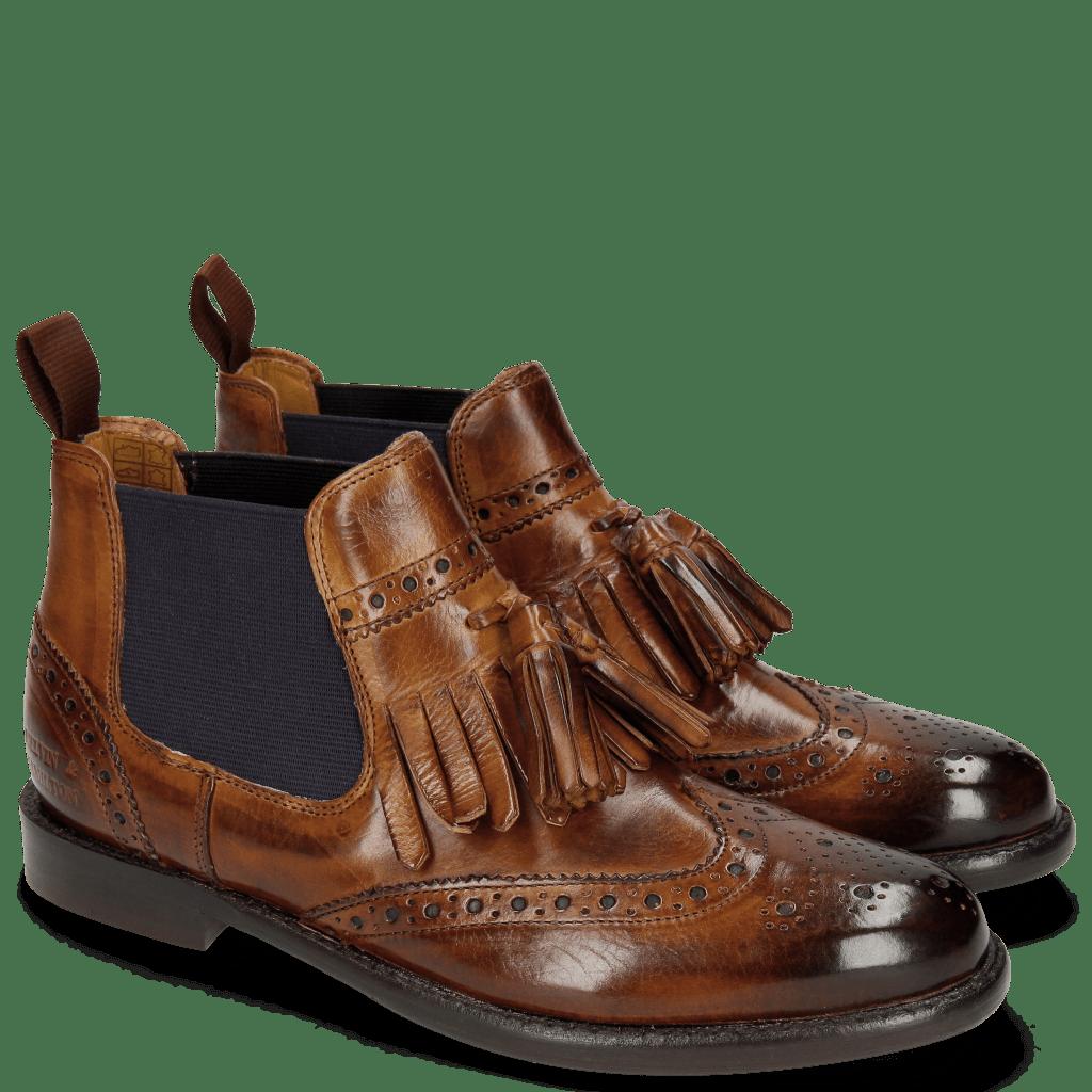 Ankle boots Selina 5 Wood Elastic Purple