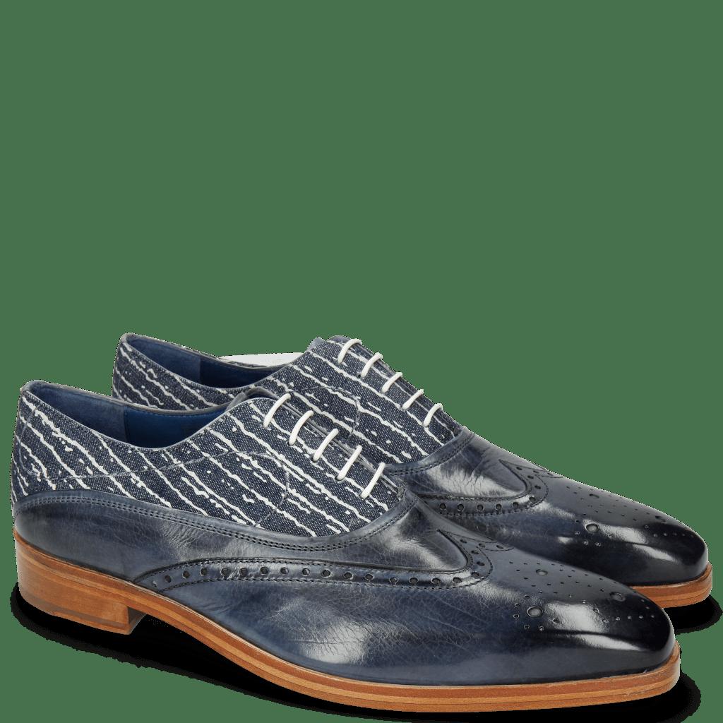 Oxford shoes Lewis 4 Moroccan Blue Denim