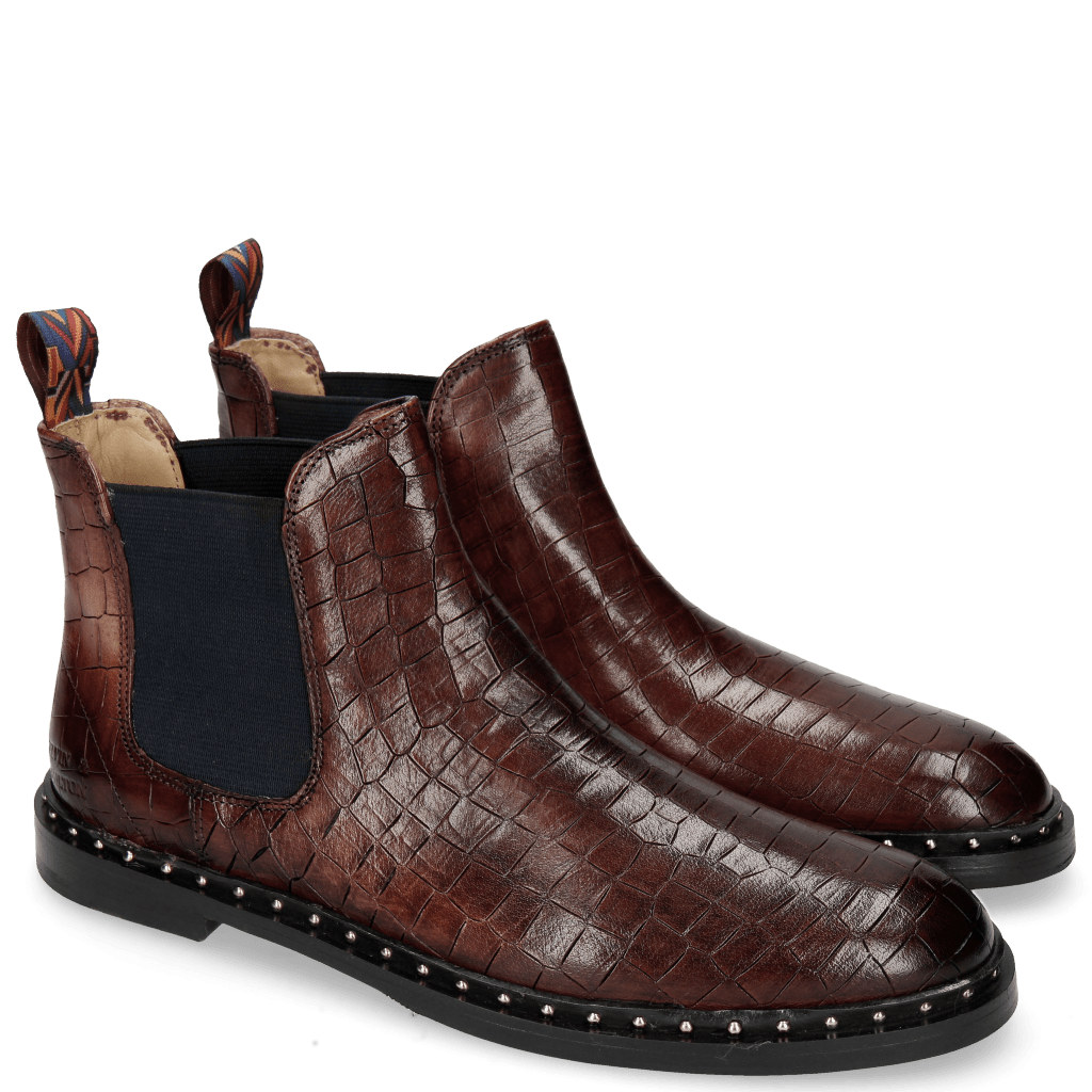 Ankle boots Susan 10 Crock Plum Loop Peru Rivets