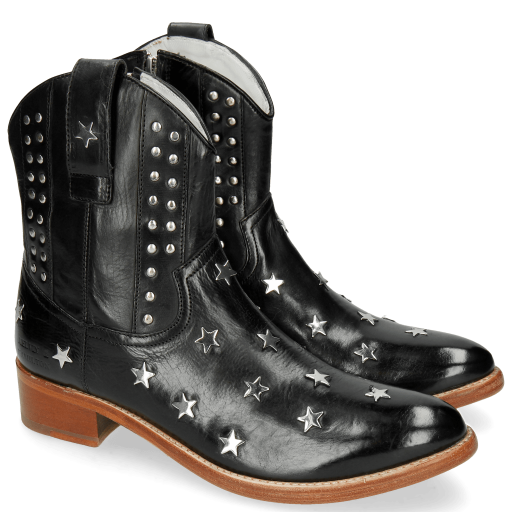 Ankle boots Blanca 4 Vegas Black Washing Star Rivets