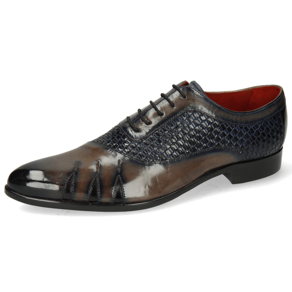 Oxford shoes Toni 44 Mesh Stone Navy Patent Black