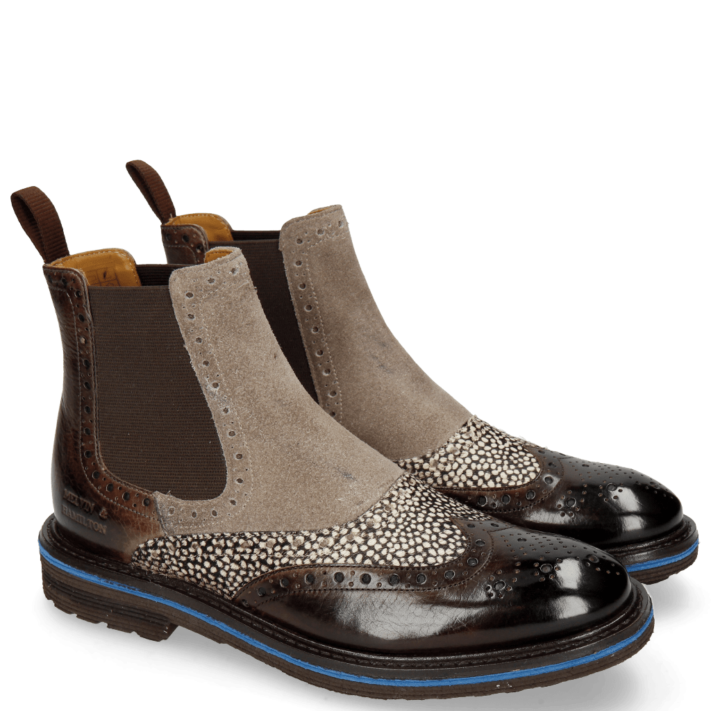 Ankle boots Amelie 24 Mogano Hairon Halftone Suede Marmotta