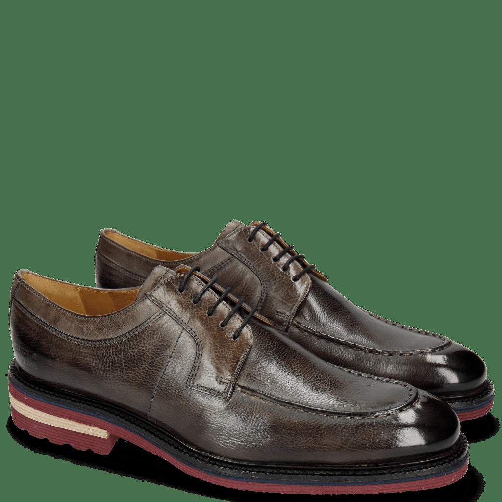 Derby shoes Patrick 13 Milano Grigio Aspen Burgundy