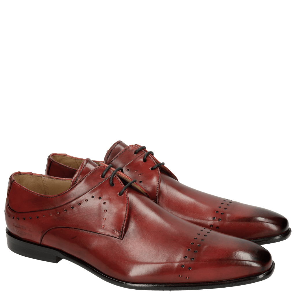 Derby shoes Ethan 14 Ruby Black Lining