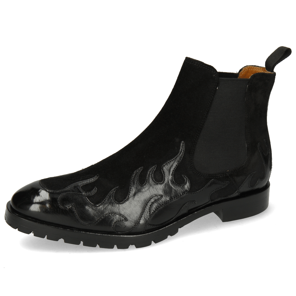 Ankle boots Tom 29 Flame Black Suede Pattini Black