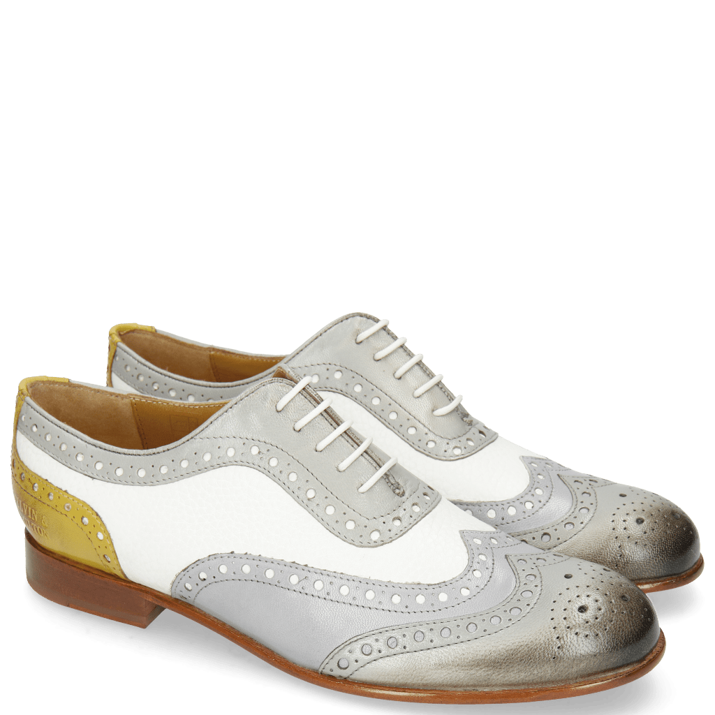 Oxford shoes Sally 97 Salerno French Grey Lavender Milled White