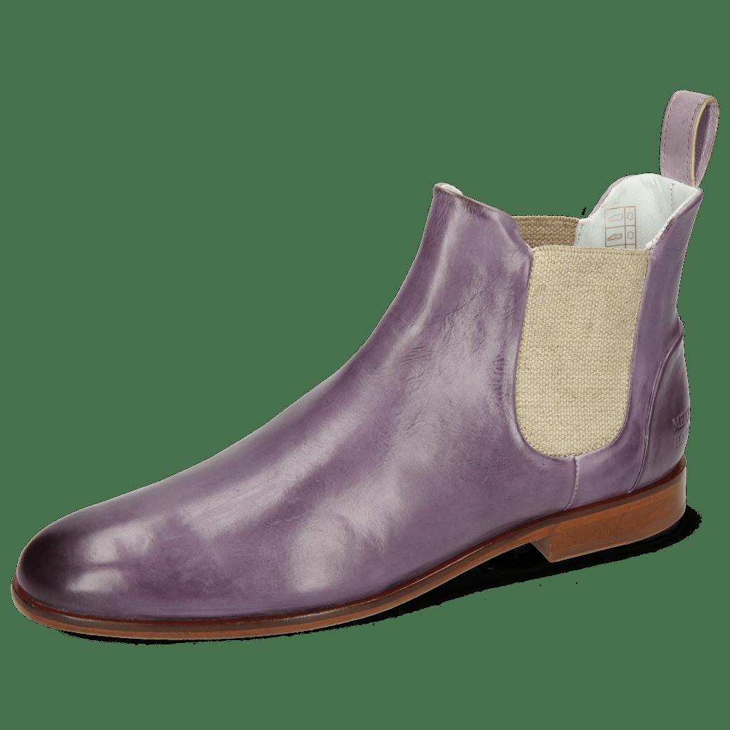 Ankle boots Susan 85 Vegas Pale Lila Elastic Lino