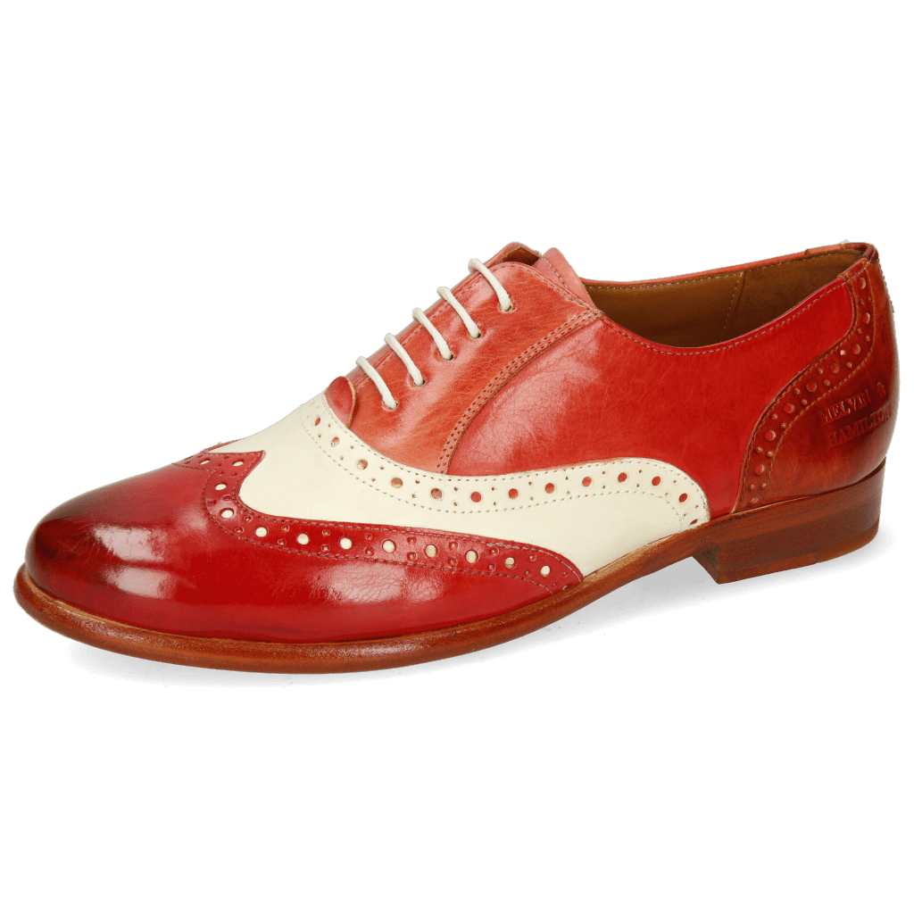 Oxford shoes Selina 24 Vegas Rio Red White Earthly Fiesta