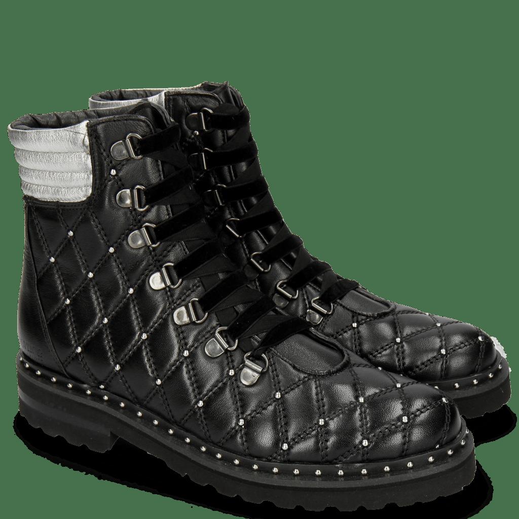 Ankle boots Bonnie 17 Nappa Black Talca Silver Rivets