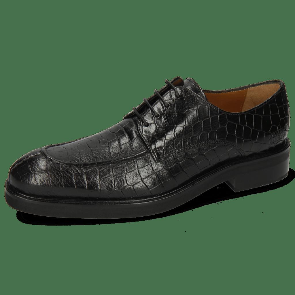 Derby shoes Parker 1 Crock Black Lining Genevra