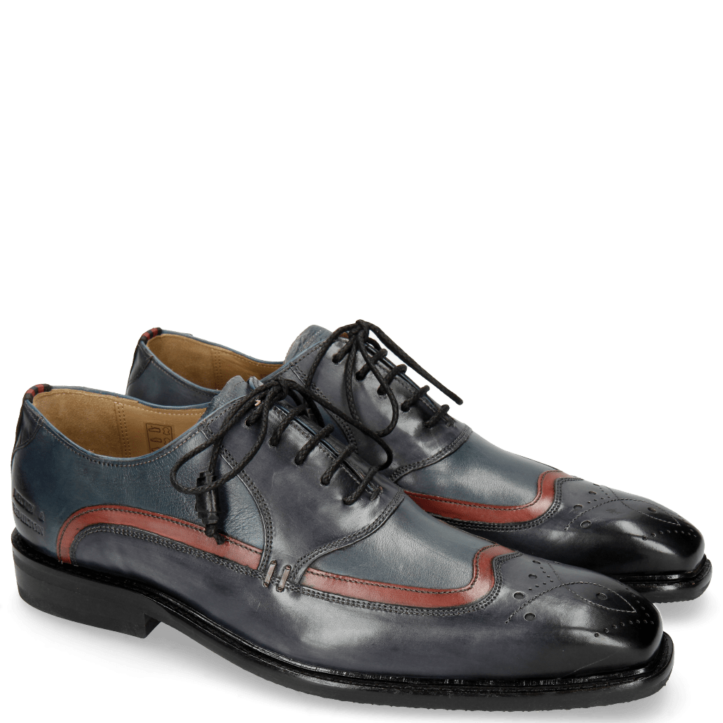 Oxford shoes Marvin 12 Navy Ruby Milano Moroccan Blue