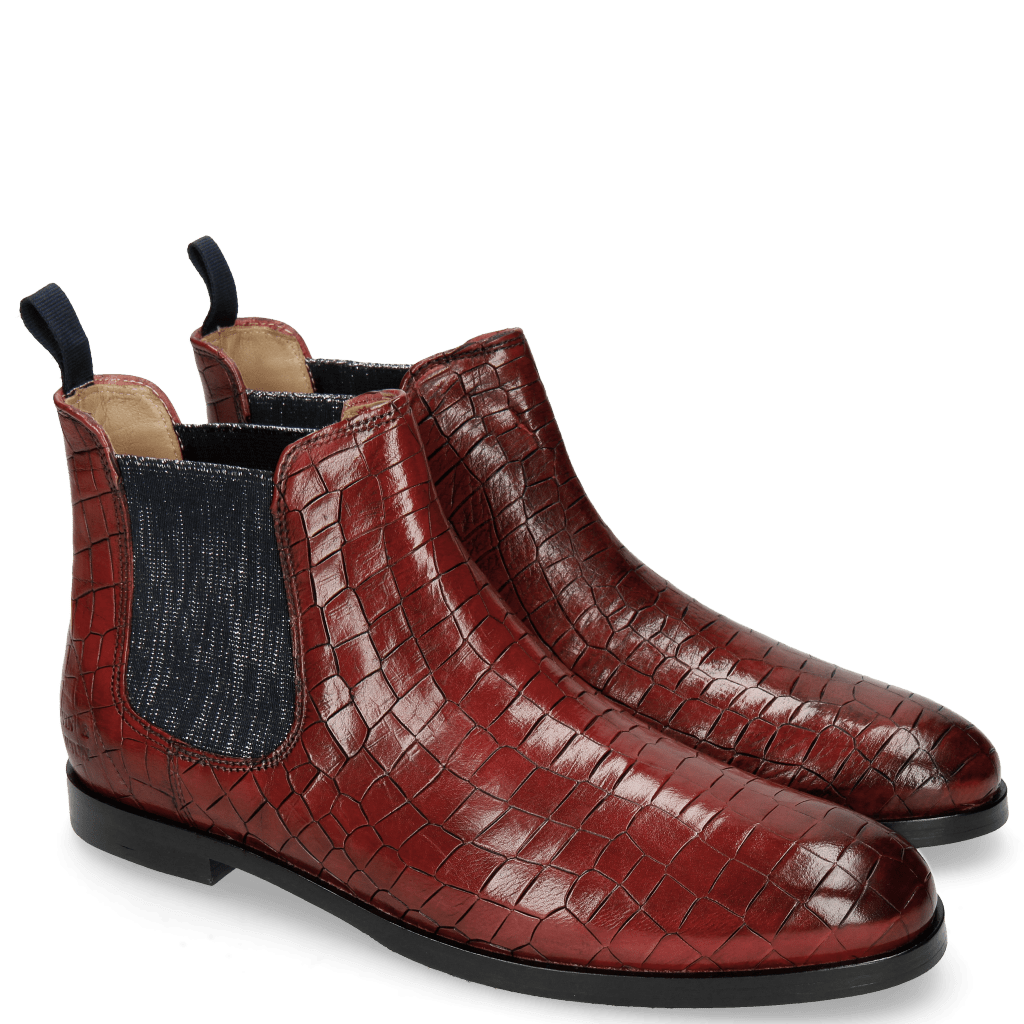 Ankle boots Susan 10A Crock Ruby Elastic Glitter
