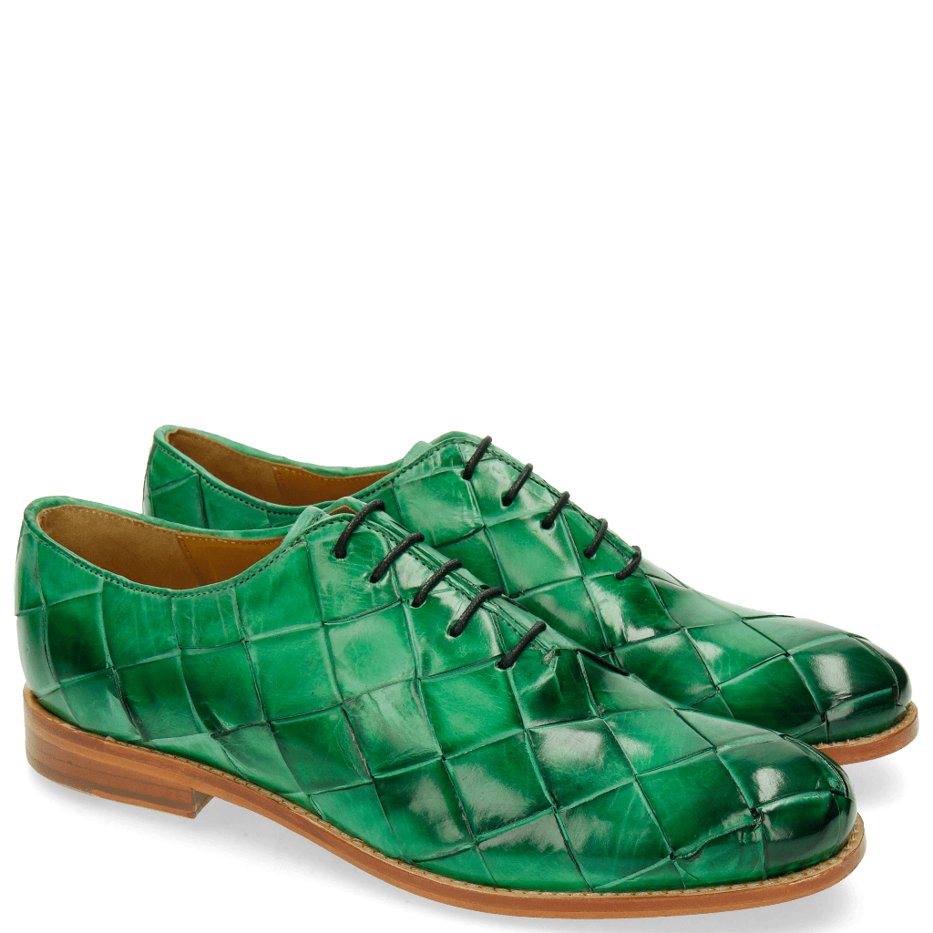 Oxford shoes Amelie 56 Big Woven Electric Green