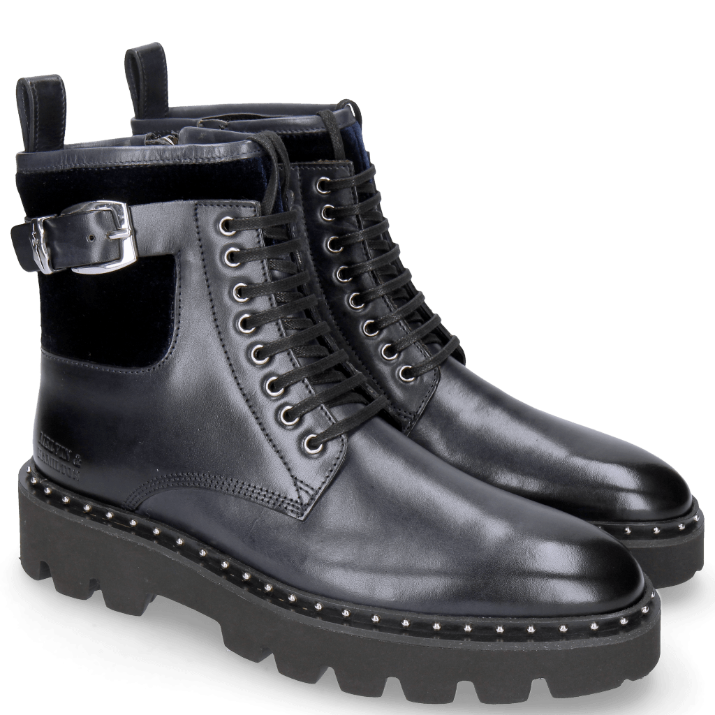 Ankle boots Susan 66 Velluto Navy Accessory ROS