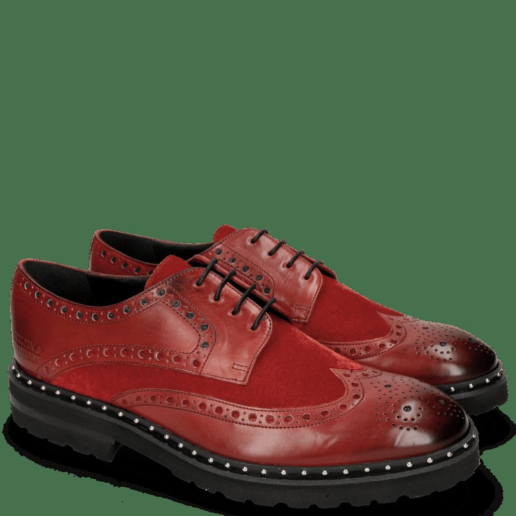 Derby shoes Matthew 4 Ruby Velvet Rivets