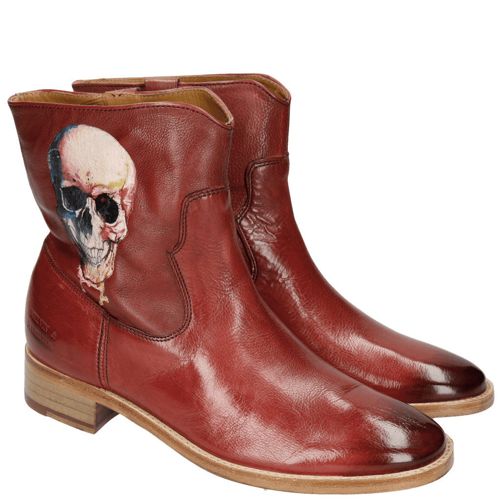 Ankle boots Jodie 8 Milano Red Screen Shot Skull