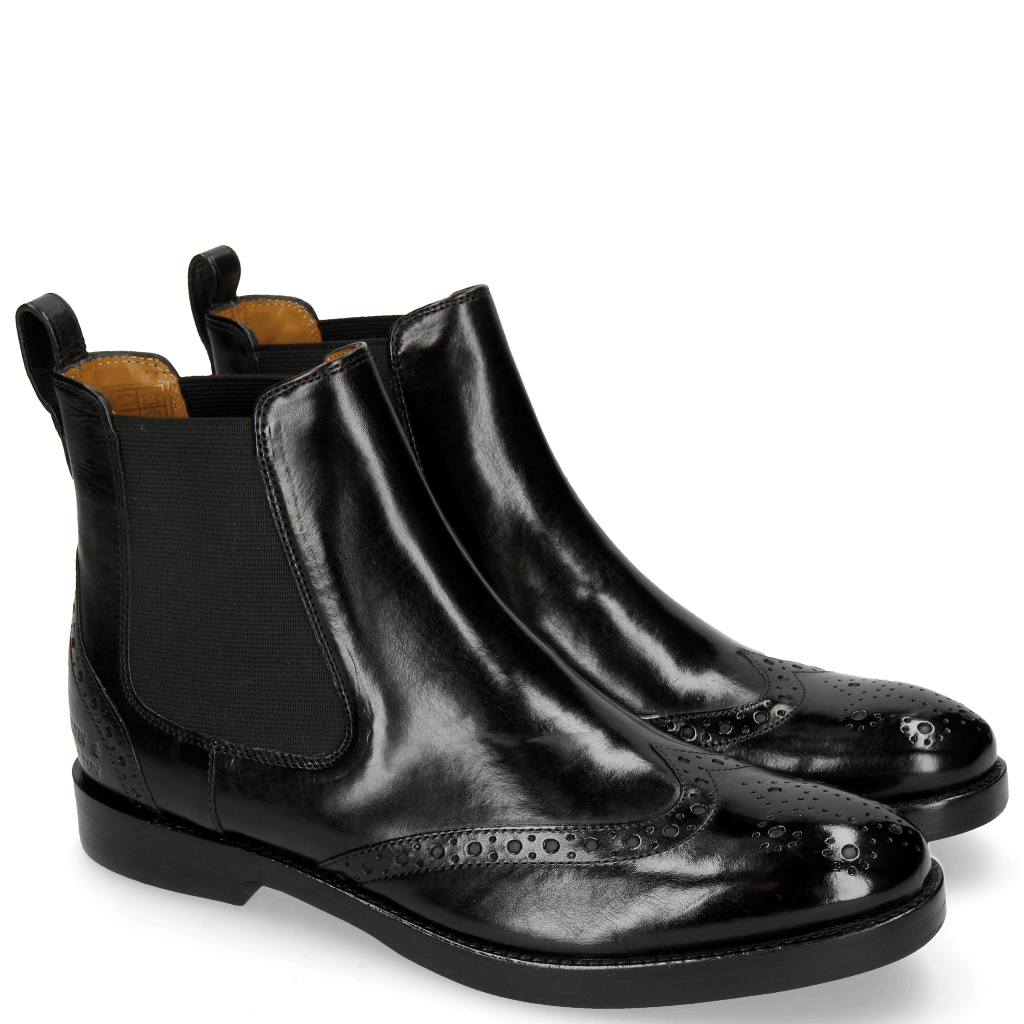 Ankle boots Amelie 5 Black Elastic Black RS Purple