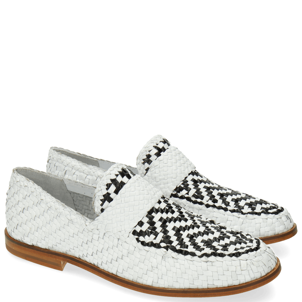 Loafers Pit 10 Woven White Black