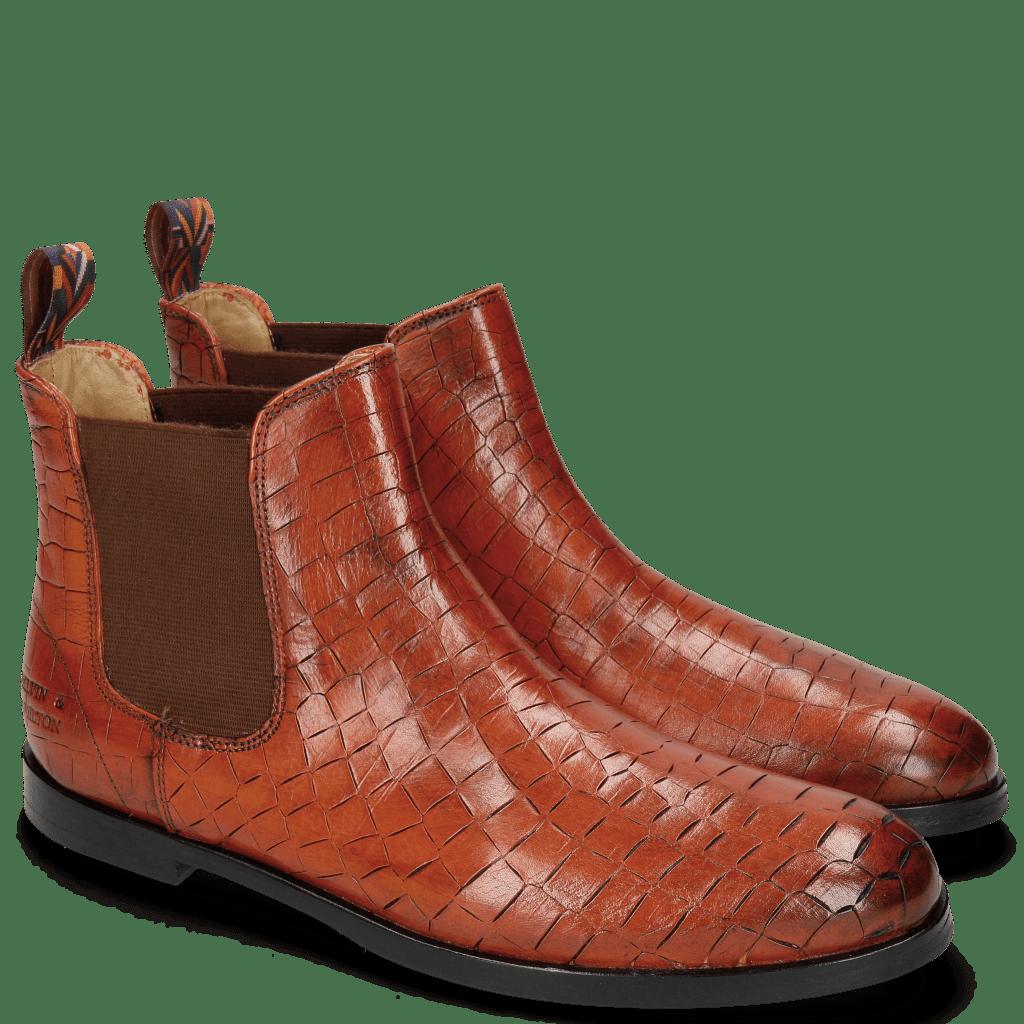 Ankle boots Susan 10 Crock Winter Orange Loop Peru