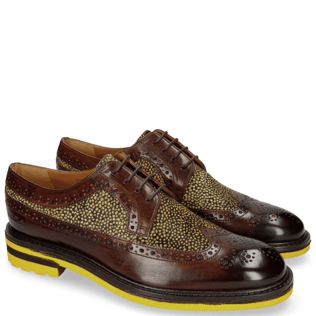 Derby shoes Trevor 10 Mid Brown Hairon Halftone New Grass