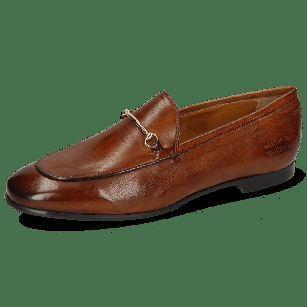 Loafers Scarlett 22 Pisa Tan Trim Gold Lining