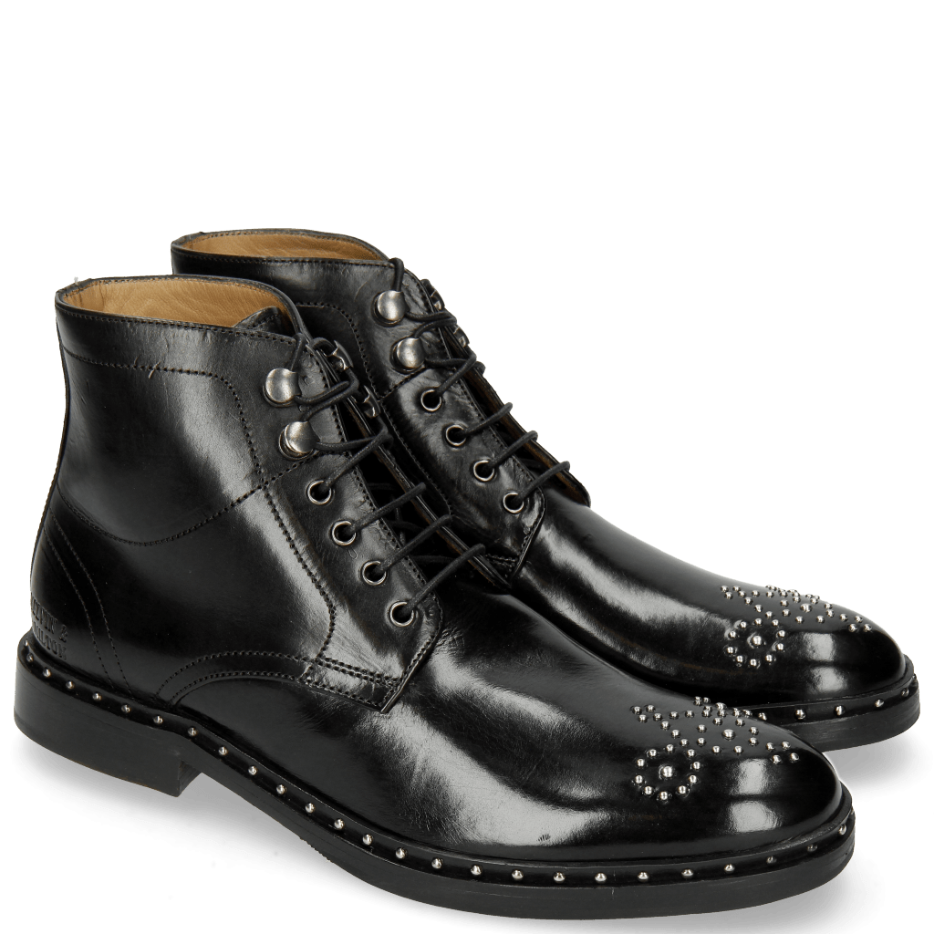 Ankle boots Sally 109 Black Rivets