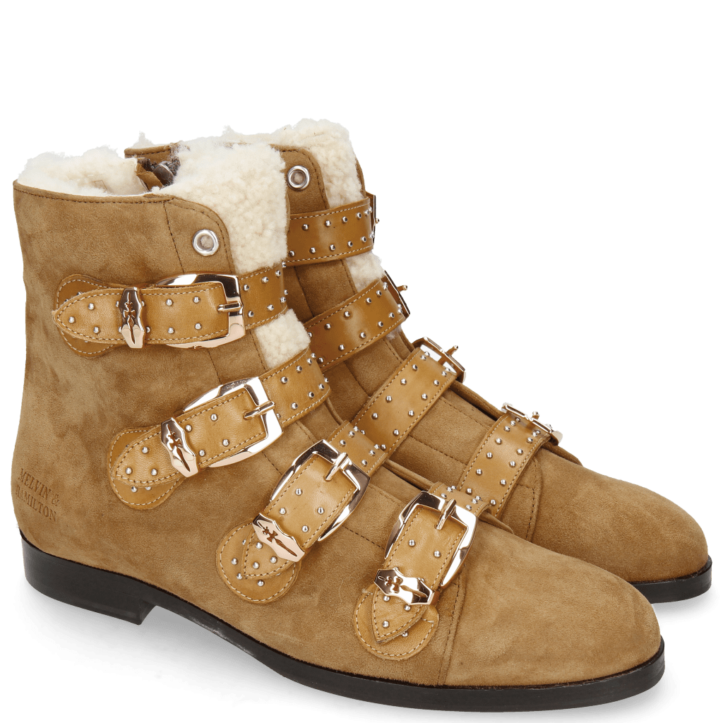 Ankle boots Susan 44 Sherling Beige Suede Chilena Tan Strap Sand
