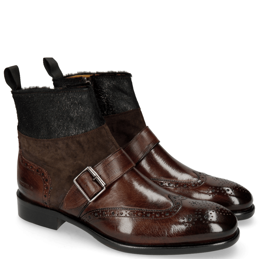 Ankle boots Patrick 12 Mogano Lima Espresso Hair On Breeze Antracite