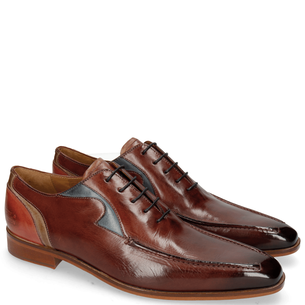 Oxford shoes Lance 54 Plum Mock Navy Digital Earthly
