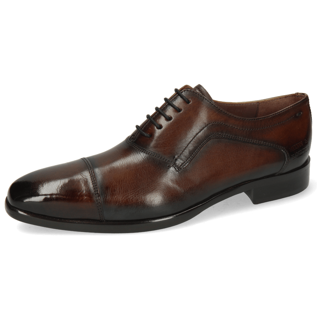 Oxford shoes Lance 15 Mid Brown Shade Electric Blue