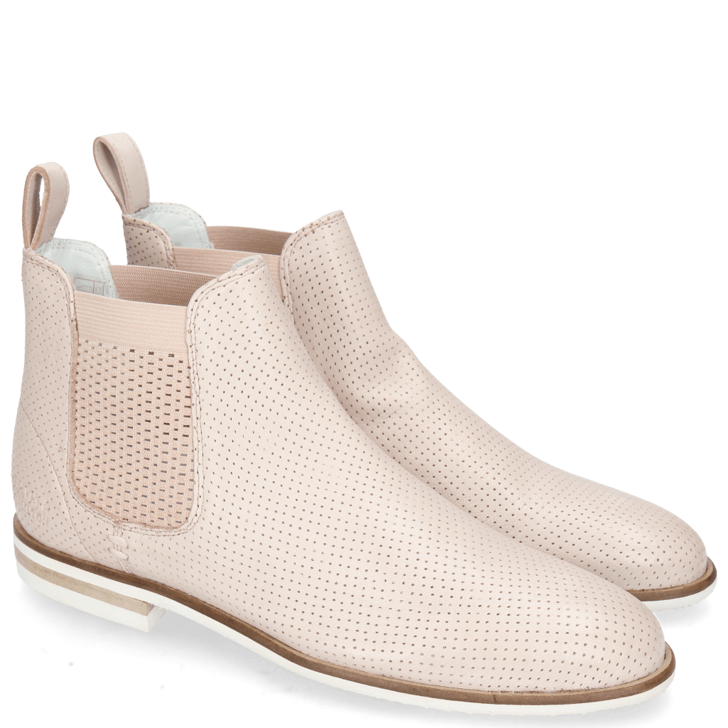 Ankle boots Susan 10 Nappa Glove Perfo Rose Elastic Guglia Nude