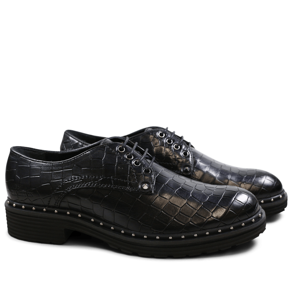 Derby shoes Sissy 1 Crock Black Rivets