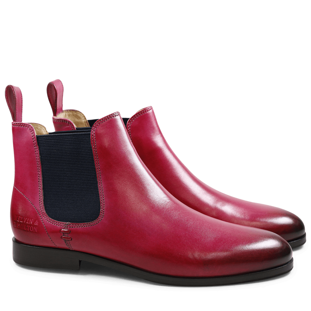 Ankle boots Susan 10 Crust Dark Pink Elastic Navy HRS