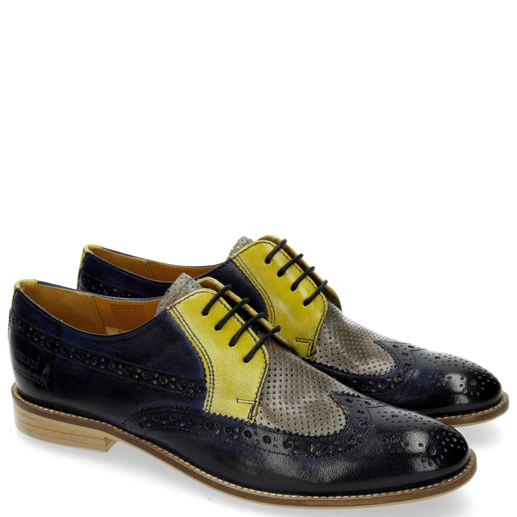 Derby shoes Xenia 2 Navy Oxygen Cedro