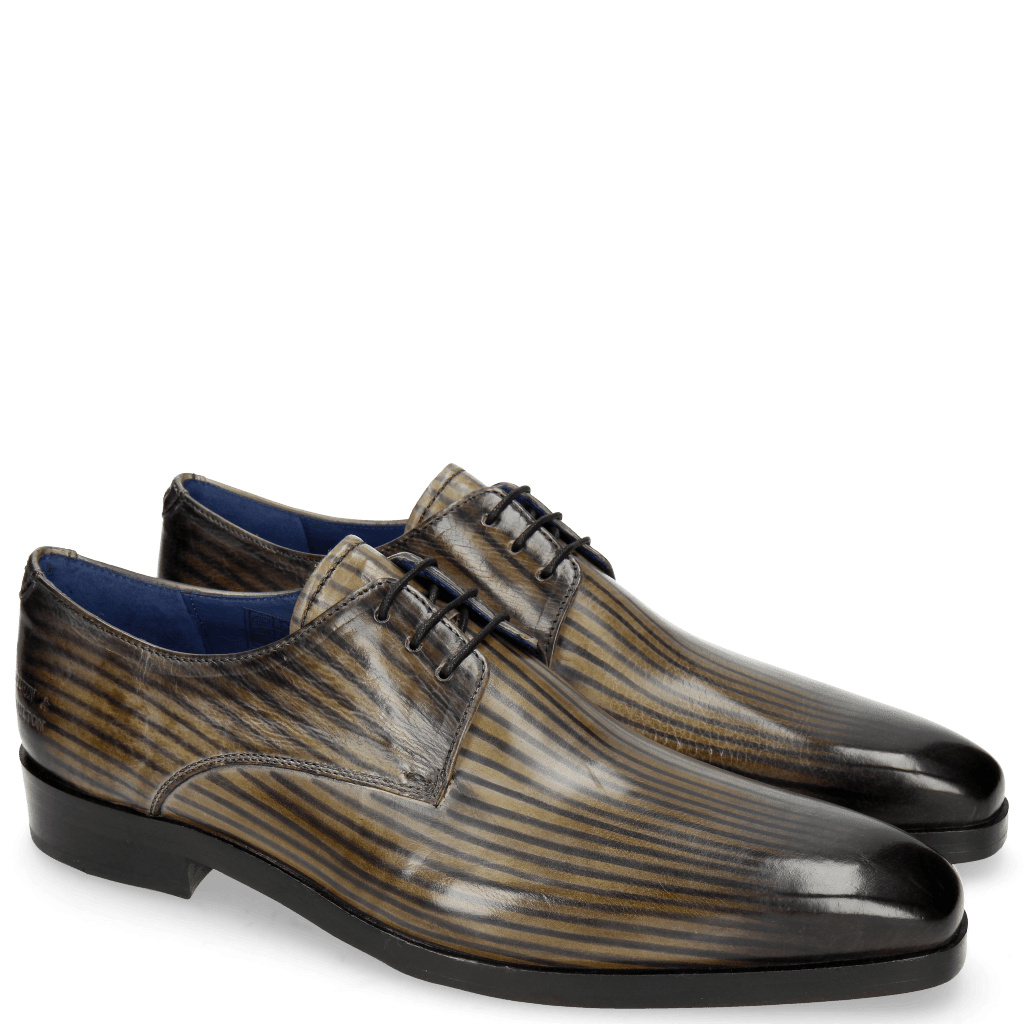 Derby shoes Lewis 13 Lines Morning Grey London Fog Cedro