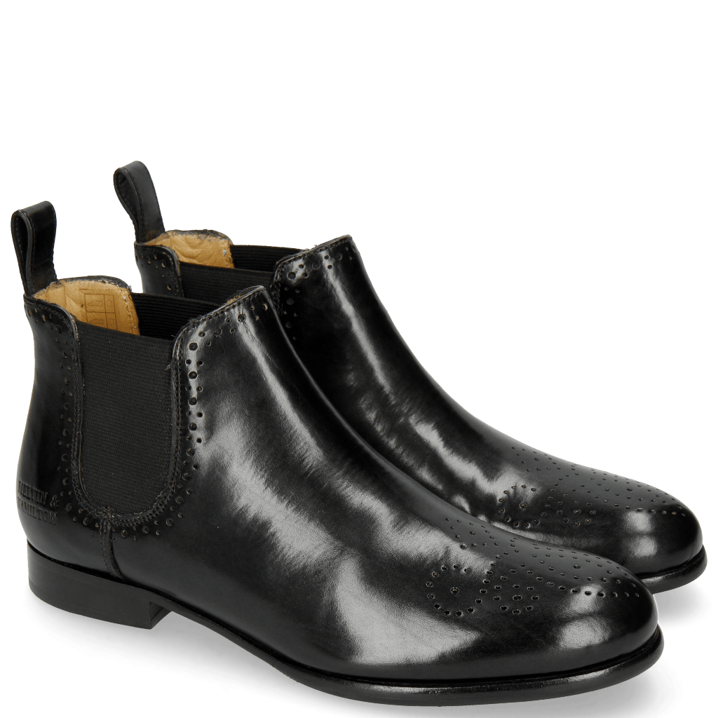Ankle boots Sally 16 Black Lining Rich Tan