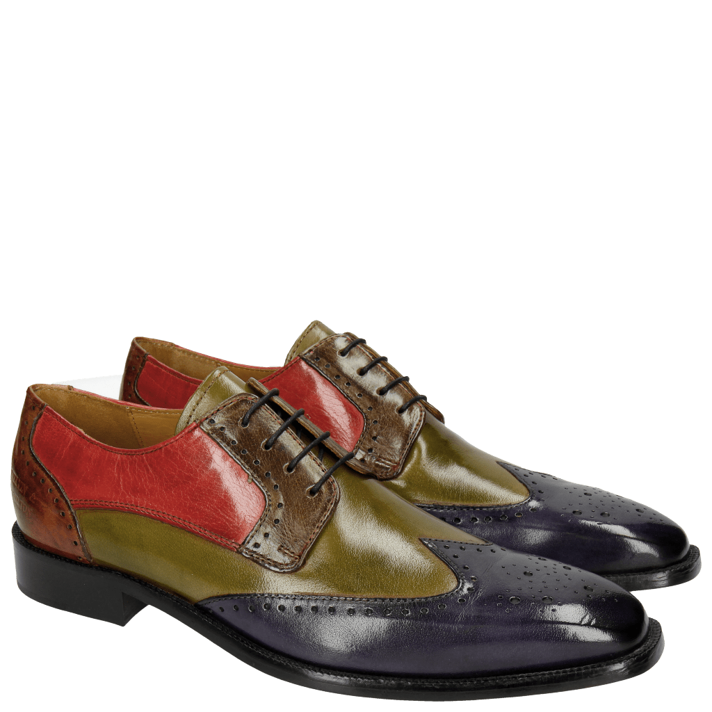 Derby shoes Jeff 14 Classic Cobalt Mint Green Grey Rosso Tan LS